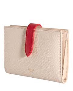 Bicolour Medium Strap Wallet In Grained Calfskin