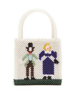 Goodman faux pearl-embellished handbag