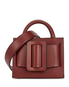 Bobby 18 oxblood leather top handle bag