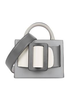 Bobby 18 grey leather top handle bag