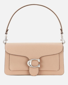 Women's Polished Pebble Leather Tabby Bag - Taupe