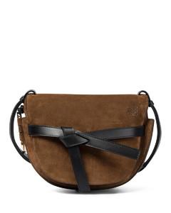 Gate Small suede crossbody bag