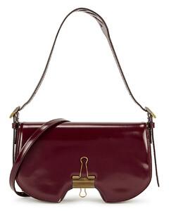 Swiss burgundy leather shoulder bag