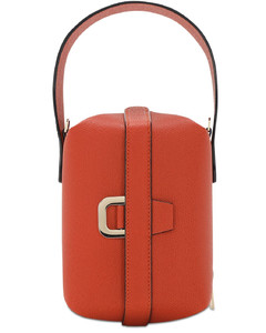 Tric Trac Grained Leather Bag