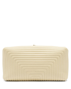 Quilted-leather clutch