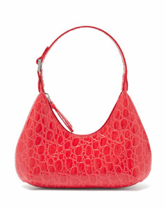 Baby Amber mini croc-effect leather shoulder bag