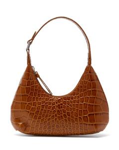 Baby Amber croc-effect leather mini shoulder bag