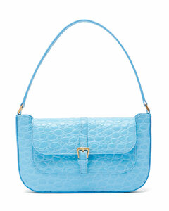 Miranda crocodile-effect leather shoulder bag
