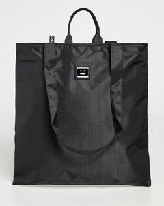 Gancini clutch bag in grained leather