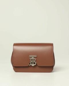 leather shoulder bag with TB monogram