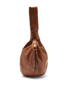 Ball coated-linen clutch