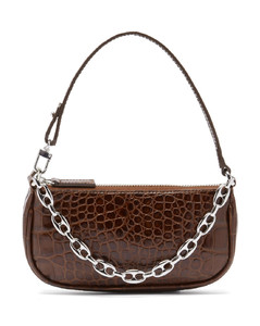 Rachel mini crocodile-effect leather shoulder bag