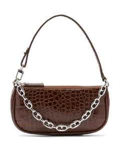 Rachel mini crocodile-effect leather shoulder bag
