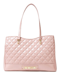 Woman Logo-embellished Quilted Faux Leather Tote