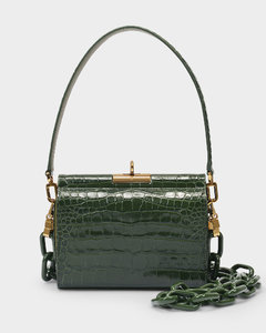 Handbag Gemma In Green Leather