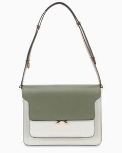 Brown/white/dark green smooth Trunk bag