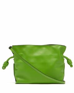 Flamenco mini drawstring leather cross-body bag