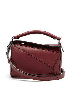 Puzzle small leather cross-body bag