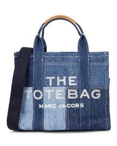 The Traveler Tote small patchwork denim bag