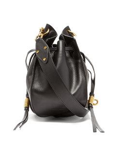 Radja drawstring leather cross-body bag