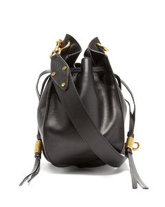 Radja drawstring leather cross-body bag