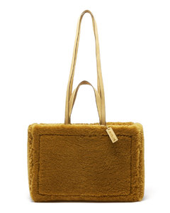 Neve faux-shearling and leather tote bag
