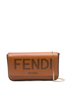 WALLET ON CHAIN CROSSBODY BAG WITH LOGO