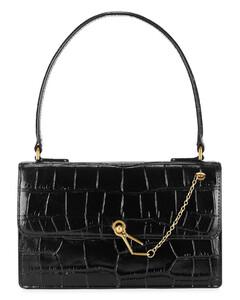 Jackie crocodile-effect leather top handle bag