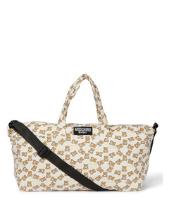 Baby printed stretch-cotton changing bag with mat