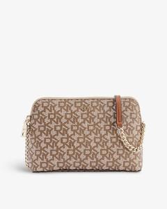 Tina medium brand-embossed leather bucket bag