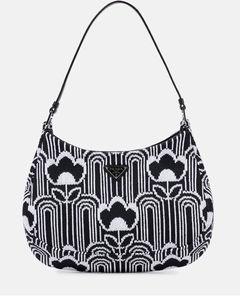 Cleo jacquard-knit shoulder bag