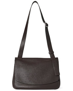 Small Mail Leather Bag in Brown