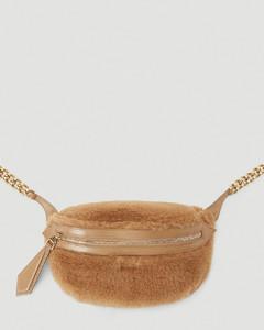 Banane4 Shearling Belt Bag in Brown