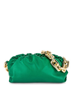 The Chain Pouch Bag in Green