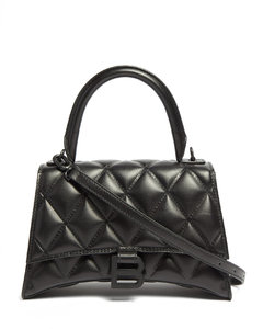 Hourglass quilted-leather shoulder bag