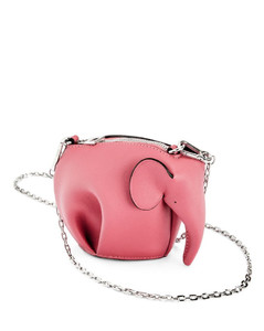 Leather Elephant Chain Pouch