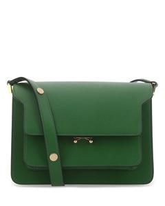 Green leather Trunk shoulder bag