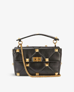 Roman Stud medium leather shoulder bag