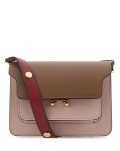 Multicolor leather small Trunk shoulder bag
