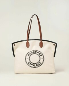 Large Society Tote Bag in cotton canvas with graphic and logo