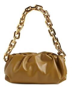 Metal Chain Leather Shoulder Bag