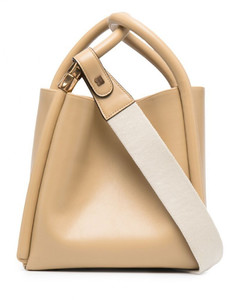 Lotus Leather Tote Bag