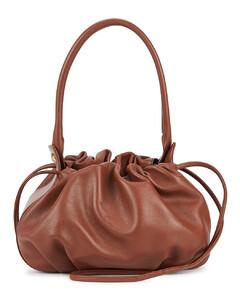 Bonnie brown reversible leather shoulder bag