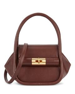 Love dark brown leather top handle bag