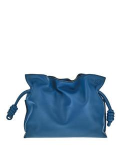 Blue flamingo leather bag
