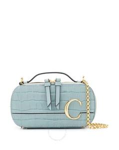 Chloe Ladies Fasded Blue C Mini Vanity Bag