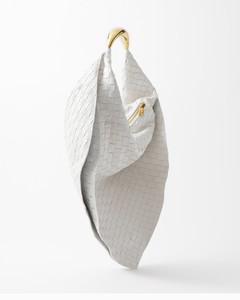 Dinner Roll white leather mini shoulder bag