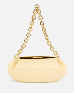 Women's Baton Leather Shoulder Bag - Straw
