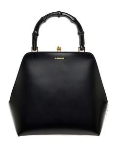Printed canvas shoulder bag