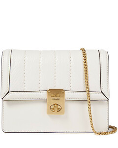 Woman Convertible Quilted Textured-leather Belt Bag